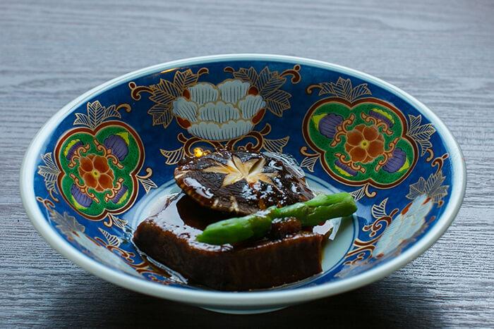 味道源 極味コース 焼物 シャトーブリアン ポルチーニソース 焼きしいたけ